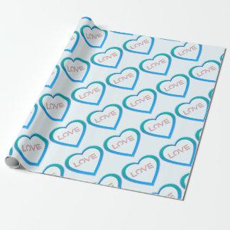 Liebe-Herz Geschenkpapier
