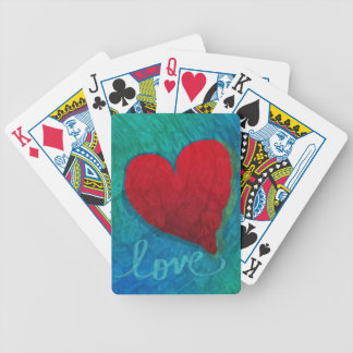 Liebe-Herz-Kräuselungen Spielkarten