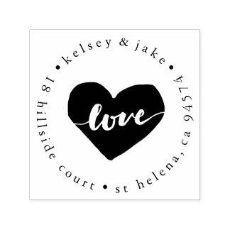 Liebe-Herz-Rücksendeadresse Permastempel