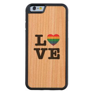 Liebe-Herz-Stolz iPhone 6 Holz-Kasten Bumper iPhone 6 Hülle Kirsche
