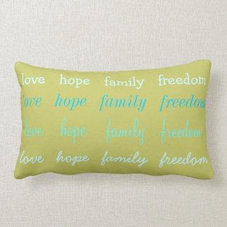 Liebe-Hoffnungs-Familien-Freiheits-Kissen Kissen