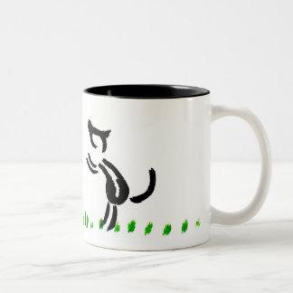 liebe Hunde Zweifarbige Tasse