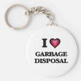 Liebe I Abfall-Beseitigung Schlüsselanhänger