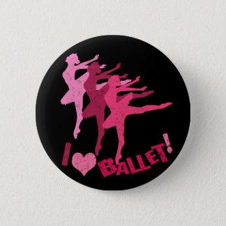 Liebe I Ballett Runder Button 5,1 Cm