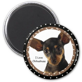 Liebe I Chihuahuas-Magnet Runder Magnet 5,7 Cm