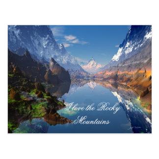 Liebe I die felsige Gebirgspostkarte Postkarte