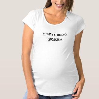 Liebe I, die Mama ist! Umstands-T-Shirt