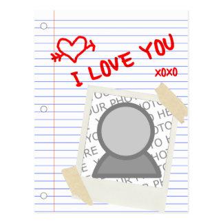 Liebe I, die Sie tapezieren Postkarte