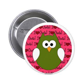 Liebe I Eulen-Buttonrückseitenknopf Runder Button 5,7 Cm