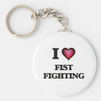 Liebe I FaustFighting Standard Runder Schlüsselanhänger