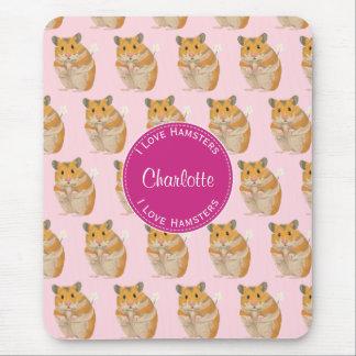 Liebe I Hamster-rosa Hamster-Muster Mousepads
