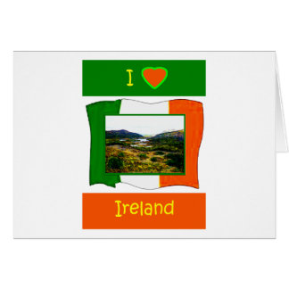 Liebe I Irland-Flagge Kerry Irland Grußkarte