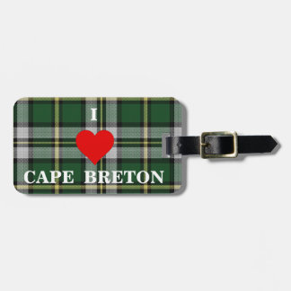 Liebe I KAP BRETONISCHER personalisierter Gepäckanhänger