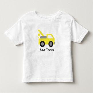 Liebe I LKWs, niedliches gelbes Fahrzeug für Kleinkinder T-shirt