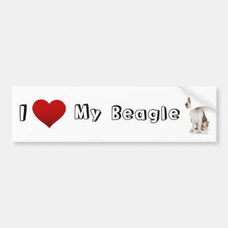 Liebe I mein Beagle (2) Autoaufkleber