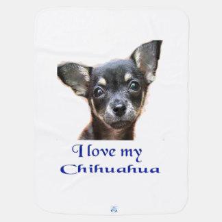 Liebe I mein Chihuahua Kinderwagendecke
