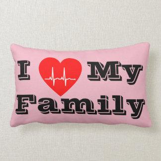 Liebe I mein Herzdekor-Kissenrosa der Familie Lendenkissen