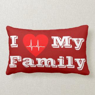 Liebe I mein Herzdekor-Kissenrot der Familie Lendenkissen