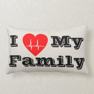 Liebe I mein Herzdekorkissen der Familie Lendenkissen