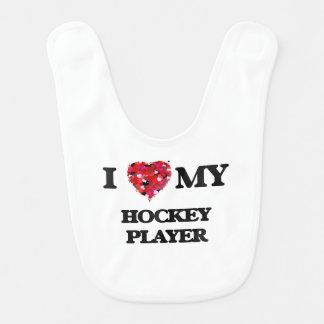 Liebe I mein Hockey-Spieler Lätzchen