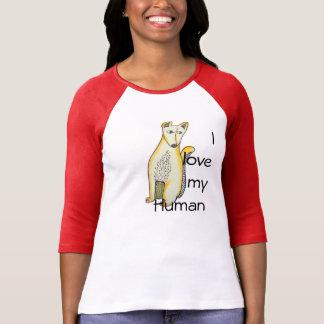 Liebe I mein menschliches T-Shirt