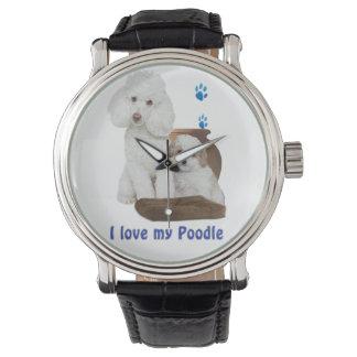 Liebe I mein Pudel Armbanduhr