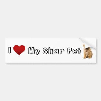 Liebe I mein Shar pei Autoaufkleber