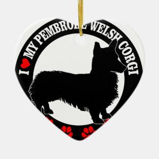 Liebe I mein Walisercorgi Keramik Ornament