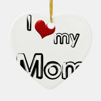 Liebe I meine Mamma Keramik Ornament