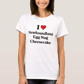 Liebe I Newfounland Eierpunsch-Käsekuchen T-Shirt