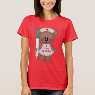 Liebe I pflegenbärn-Cartoon-T - Shirt