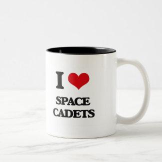 Liebe I Raum-Kadetten Zweifarbige Tasse