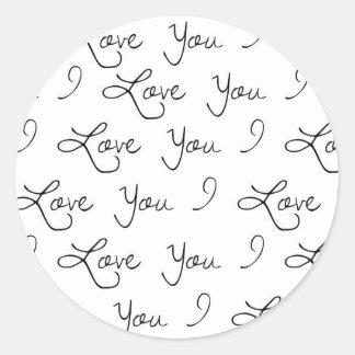 Liebe I Sie Aufkleber, wedding Aufkleber, Geschenk Runder Aufkleber
