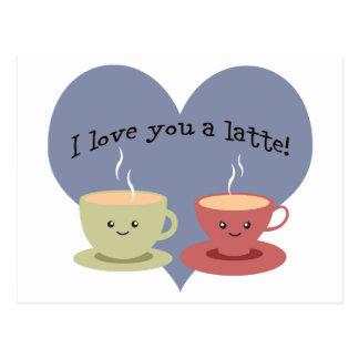 Liebe I Sie ein latte! Postkarte