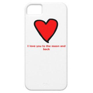 Liebe I Sie zum Mond und zur Rückseite iPhone 5 Hülle