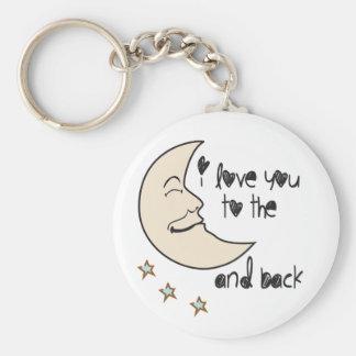 Liebe I Sie zum Mond und zur Rückseite wunderlich Schlüsselanhänger