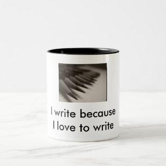 Liebe I, T - Shirt zu schreiben Zweifarbige Tasse