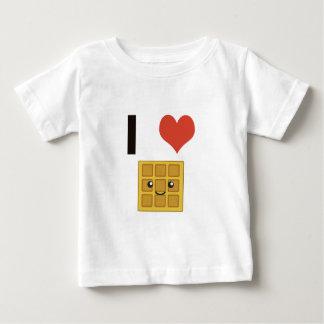 Liebe I Waffeln Baby T-shirt