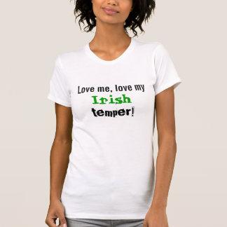 Liebe ich Iren-Temperament T-Shirt