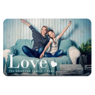 Liebe | Ihr persönliches Foto und ein Herz Magnet