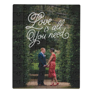 Liebe im Luft-Foto-Druck Puzzle