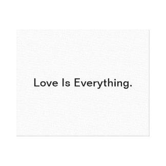 Liebe ist alles galerie gefaltete leinwand