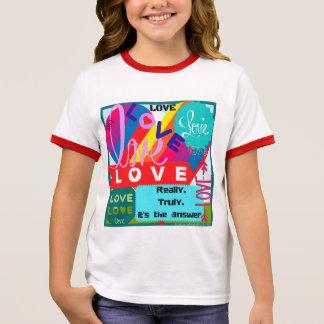 Liebe ist das Antwort-Durcheinander Ringer T-Shirt