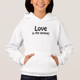 Liebe ist das Antwort-Schwarze auf dem Hoodie der