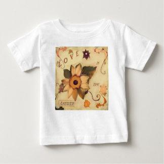 Liebe ist das Antwort-T-Shirt Baby T-shirt
