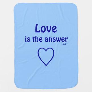 Liebe ist die Antwort-blaue Decke
