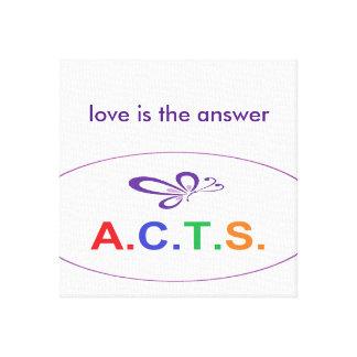Liebe ist die Antwort eingewickelte Leinwand Galerie Faltleinwand