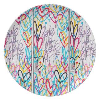 Liebe ist Liebe-Platte Teller