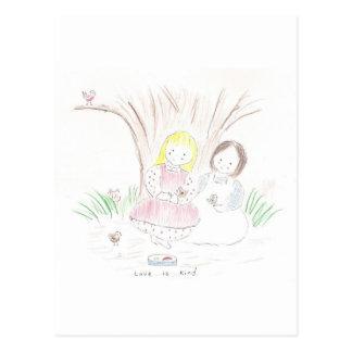 Liebe ist nett (der Tag der Mutter) Postkarte