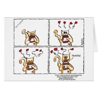 Liebe ist Nutella Karte